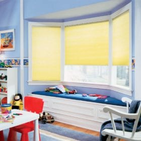 Cordless EcoSmart Cellular Shades in Child's bedroom