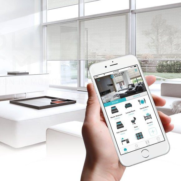 EcoSmart Motorized Roller Shades - Home automation, privacy, and safety!