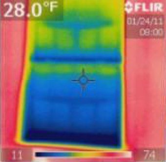 Thermal Photos of Cold Windows